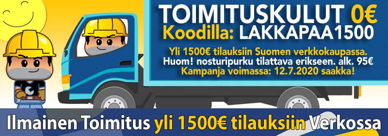 Ilmainen Toimitus Lakkapään verkkokaupassa!