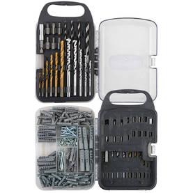 Sortimentväska med Plugg och Borrar 250-Delar - Borrbits för metall - 5709386528232 - 1