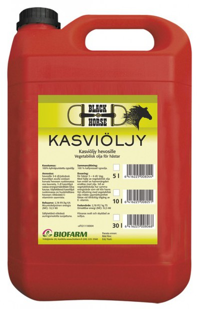 BLACK HORSE KASVIÖLJY 10L - Grisfoder - 10400688 - 1